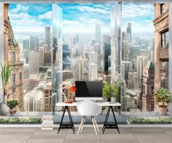 Fototapete 3D, Vedere la oraș de la înălțime