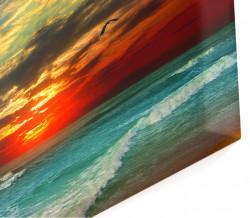 Multicanvas, Apusul de soare frumos peste ocean