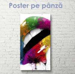 Poster, Buze multicolore