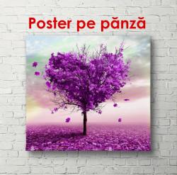 Poster, Copacul frumos roz în formă de inimă