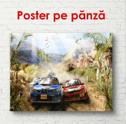 Poster, Curse de mașini în pădure
