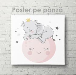 Poster, Elefant pe lună