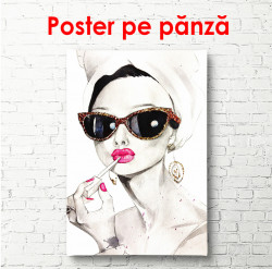 Poster, Fată glamour
