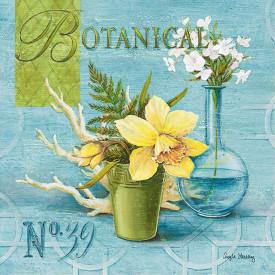 Poster, Floarea galbenă pe un fundal albastru