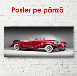 Poster, Mercedes roșu