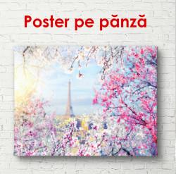 Poster, Parisul frumos cu vedere la Turnul Eiffel