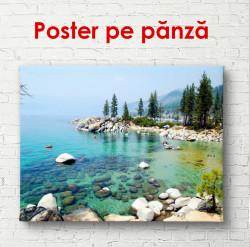 Poster, Peisajul frumos lângă lacul