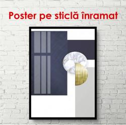 Poster, Peretele abstract alb-albastru