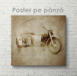 Poster, Schița unei motociclete retro