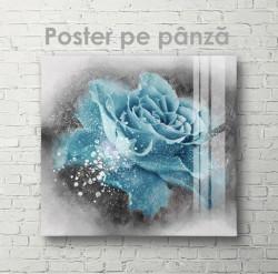 Poster, Trandafir albastru strălucitor