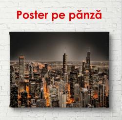 Poster, Vedere din cer către metropola de noapte