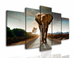 Tablou modular, Elefantul se primblă pe cărare