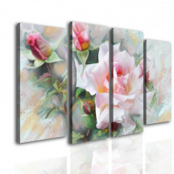 Tablou modular, Flori delicate