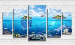 Tablou modular, Lumea subacvatica