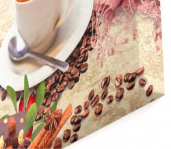Tablou modular, O ceașcă de cappuccino pe masă