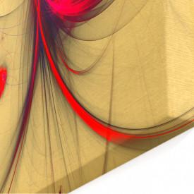 Tablou modular, Pată roșie pe un fundal bej.