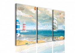 Tablou modular, Plaja fantastică