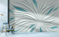 Fototapet 3D, Floare abstractă cu efect 3D