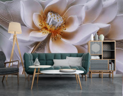 Fototapet 3D, Lotus auriu