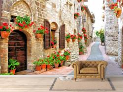 Fototapet, Curtea frumoasă din Italia
