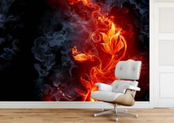 Fototapet, Floarea de foc
