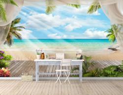 Fototapet, Paradisului de pe plajă