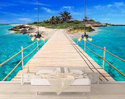 Fototapet, Podul către insulă
