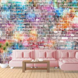 Fototapet, Un zid de cărămidă