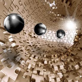 Fototapete 3D, Bile pe un fundal maro tunel