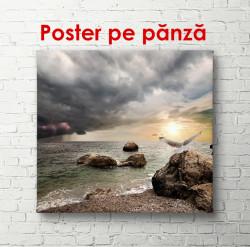 Poster, Apusul de soare pe plaja