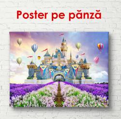 Poster, Castelul pe un fundal de câmp de lavandă