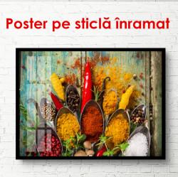 Poster, Condimente strălucitoare și aromate în linguri