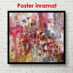 Poster, Fantezie retro în nuanțe de roșu