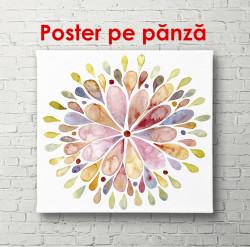 Poster, Floare strălucitoare în acuarelă