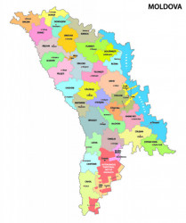 Poster, Harta politică a Republicii Moldova