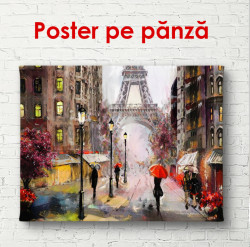 Poster, Parisul pe ploaie