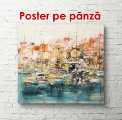 Poster, Peisajul abstract cu yahturi