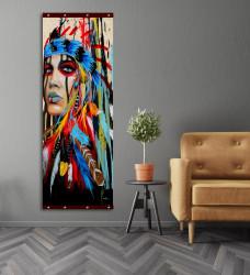 Roll-up, Indianul vopsit în culori strălucitoare
