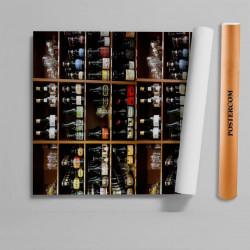 Stickere 3D pentru uși, Rafturi cu băuturi alcoolice, 1 foaie de 80 x 200 cm