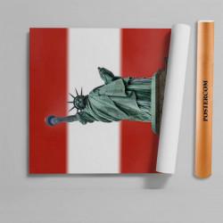 Stickere 3D pentru uși, Statuia Libertății, 1 foaie de 80 x 200 cm