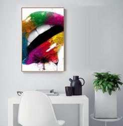 Tablou, Buze colorate