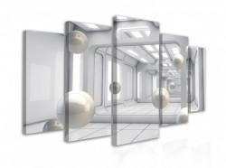 Tablou modular, Bile zburătoare într-un tunel 3D