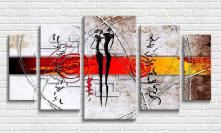 Tablou modular, Ilustrație abstractă în stil african