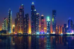 Tablou modular, Megapolisul noaptea lângă mare