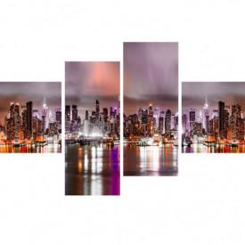 Tablou modular, Orașul roz în timpul nopții