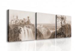 Tablou modular, Peisaj în nuanțe de maro