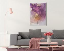 Tablou, Nuanțe violet cu auriu