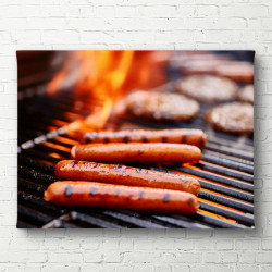 Tablouri Canvas, Carne pe foc