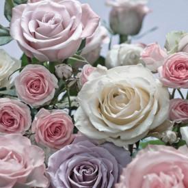Fototapet, Buchetul de trandafiri pe fundalul cerului