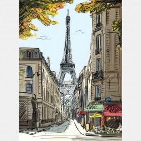 Fototapet, Cafenea confortabilă în Paris